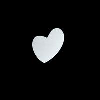 Sterling Silver Wacky Heart, 24g