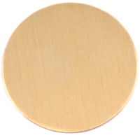 "Brass 2"" (50.8mm) Circle, 24g"