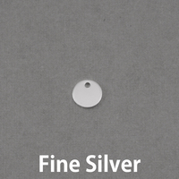 Fine Silver (8mm) Circle with Hole, 20g