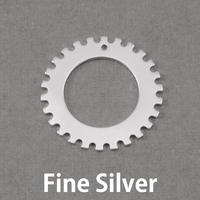 "Fine Silver Notched Washer 1"" Washer, 5/8"" ID, 20g"