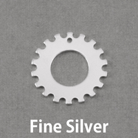 "Fine Silver Notched Washer 3/4"" Washer, 3/8"" ID, 20g"