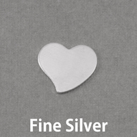Fine Silver Small Stylized Heart, 24g