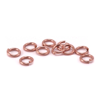Rose Gold Filled 3mm I.D. 18 Gauge Jump Rings, pack of 10