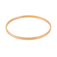 Gold Plated Flat Bangle Bracelet, 1/8""
