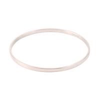 "Silver Plated Flat Bangle Bracelet, 1/8"""
