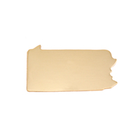 Brass Pennsylvania State Blank, 24g