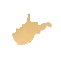 Brass West Virginia State Blank, 24g