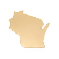 Brass Wisconsin State Blank, 24g