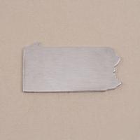 Aluminum Pennsylvania State Blank, 18g