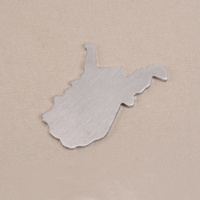 Aluminum West Virginia State Blank, 18g
