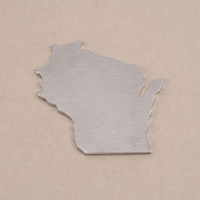Aluminum Wisconsin State Blank, 18g