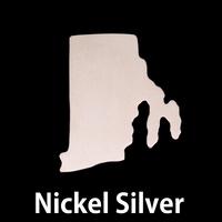 Nickel Silver Rhode Island State Blank, 24g