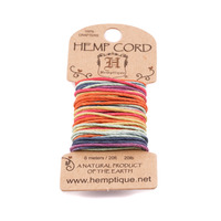 Hemp Cord- Mini Card Rainbow