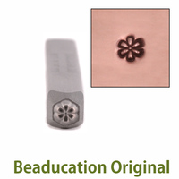 Daisy Flower Face 3mm Design Stamp - Beaducation Original