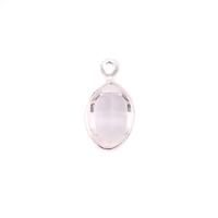 Swarovski Crystal Oval Charm (Diamondique - APRIL)