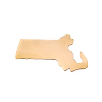 Brass Massachusetts State Blank, 24g