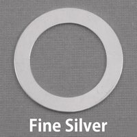 "Fine Silver 1 1/4"" Washer with 7/8"" ID, 20g"
