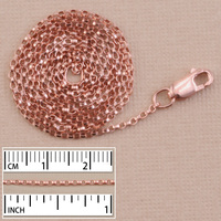 Rose Gold Filled 1.3mm Flat Rolo Chain, 18""