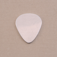 """Aluminum Medium """"Guitar Pick"""" Blank, 22g"""