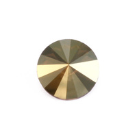 Swarovski Crystal Rivoli - Iridescent Green Foiled 14mm