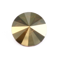 Swarovski Crystal Rivoli - Iridescent Green Foiled 18mm