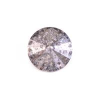 Swarovski Crystal Rivoli - Crystal Silver Patina 14mm