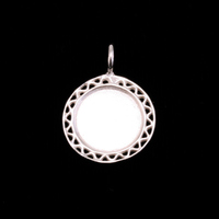 Sterling Silver Filigree Edge Pendant, Medium