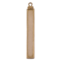 Brass Raised Edge Long Rectangle with Fancy Bail