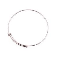 Silver Plated Expandable Charm Bracelet