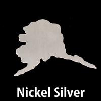 Nickel Silver Alaska State Blank, 24g