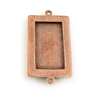 Plated Copper Large Rectangle Bezel Link