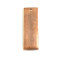 Plated Copper Thick Rectangle with Single Hole