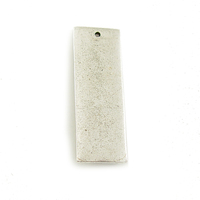 Plated Silver Thick Rectangle with Single Hole