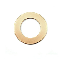 "Brass 7/8"" Washer, 1/2"" ID, 24g"