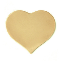 Brass Large Puffy Heart, 24g