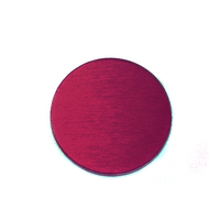"Anodized Aluminum 1/2"" Circle, Rose, 24g"