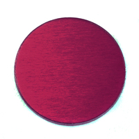 "Anodized Aluminum 3/4"" Circle, Rose, 24g"