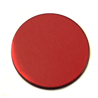 "Anodized Aluminum 3/4"" Circle, Red, 24g"