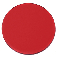 "Anodized Aluminum 1"" Circle, Red, 24g"