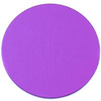 "Anodized Aluminum 1"" Circle, Violet, 24g"
