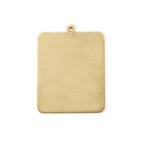 Brass Rounded Rectangle w/ Top Loop, 24g
