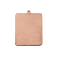 Copper Rounded Rectangle w/Top Loop, 24g