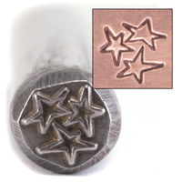 Three Asymetrical Stars Design Stamp