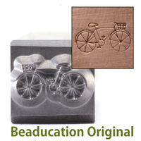 Hipster Bicycle Design Stamp-Beaducation Original