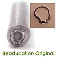 Boy Silhouette Design Stamp- Beaducation Original