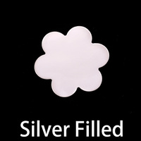 Silver Filled Large 6 Petal Flower, 24g