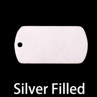 Silver Filled Large Dog Tag (no notch), 24g