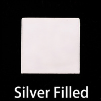 "Silver Filled Square 3/4"" (19.1mm), 24g"