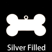 Silver Filled Dog Bone with Top Loop, 24g