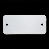 Sterling Silver Rectangle Component with Holes, 24g